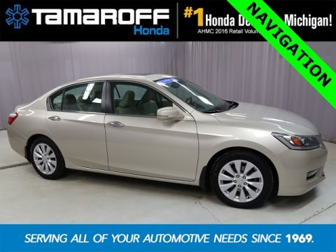 Certified Pre-Owned 2014 Honda Accord EX-L W/Navigation FWD 4D Sedan